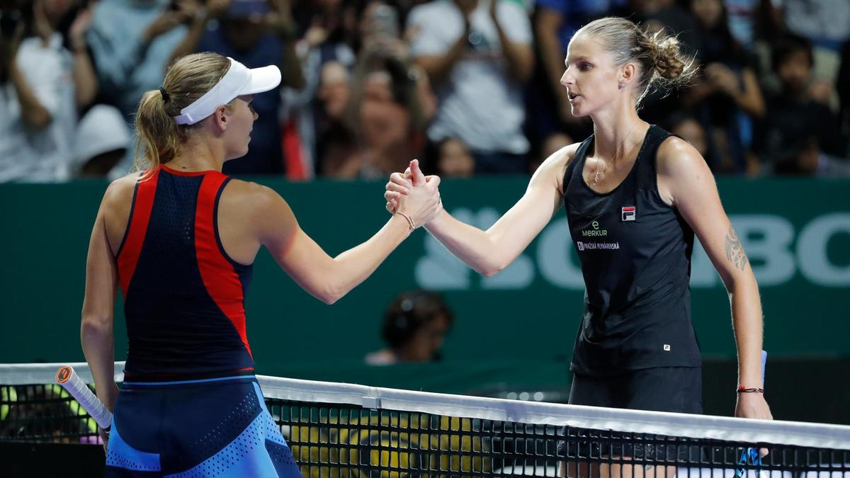 Svitolina And Pliskova Win In Singapore