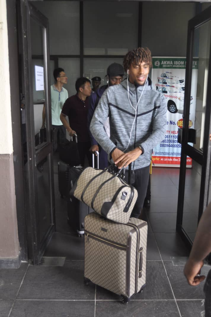PICTURES:Iwobi, Musa, 5 Others Arrive Eagles' Uyo Camp