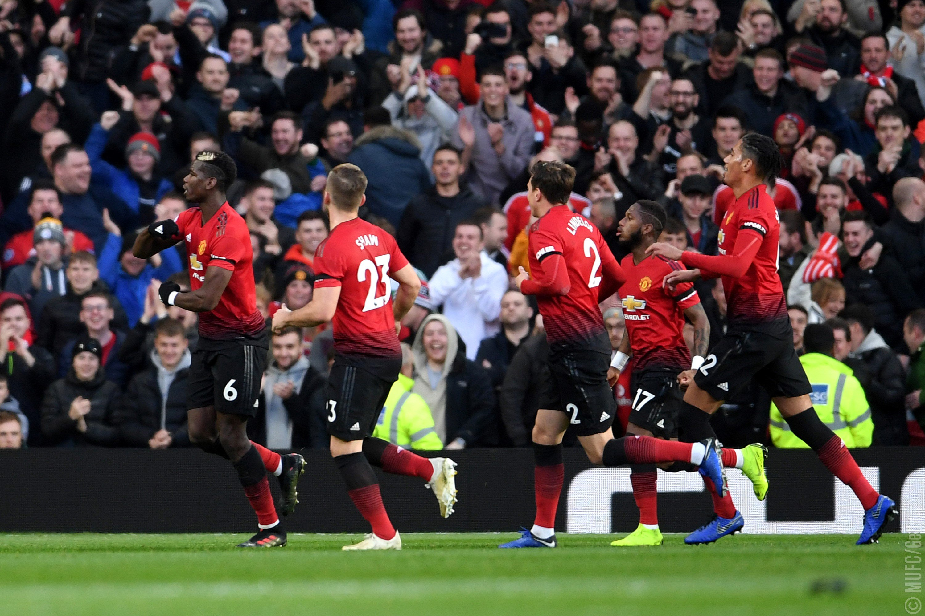 Pogba, Martial Strike To Secure Man United's Hard-Fought Win Over Everton
