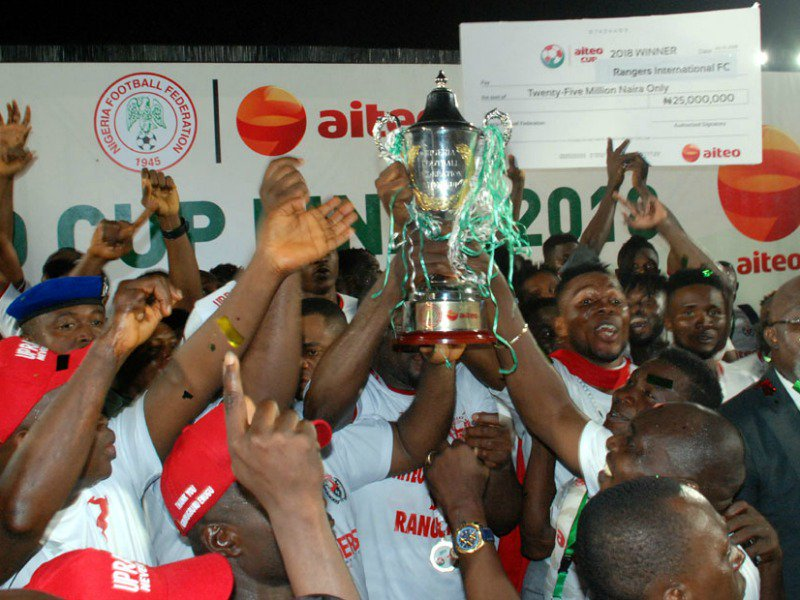 Rangers To Hold Aiteo Cup Trophy Parade November 16