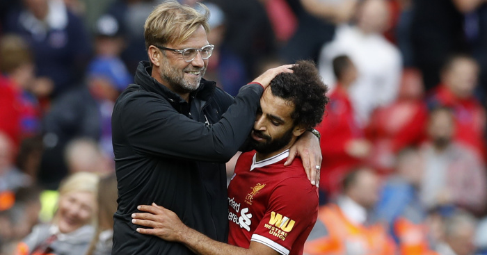 Klopp Hails Salah After Reaching 50