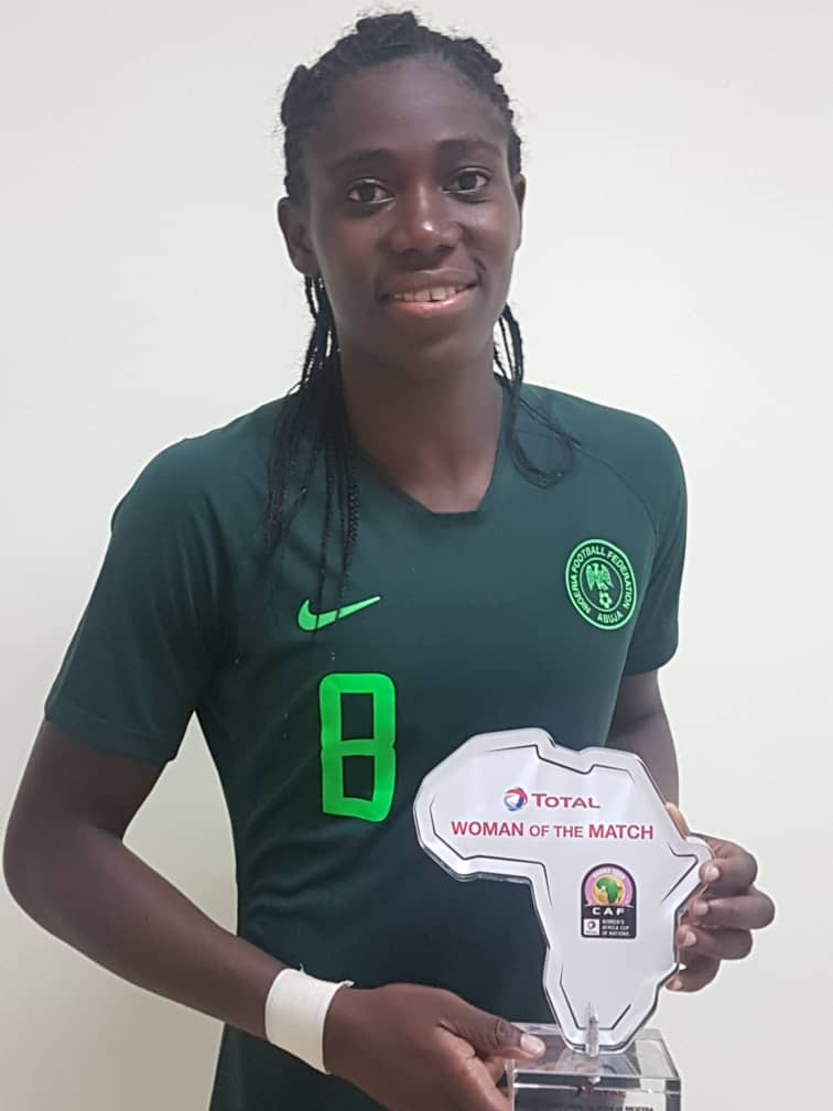 Oshoala Bags WOTM Award In Nigeria Win Against Equatorial Guinea