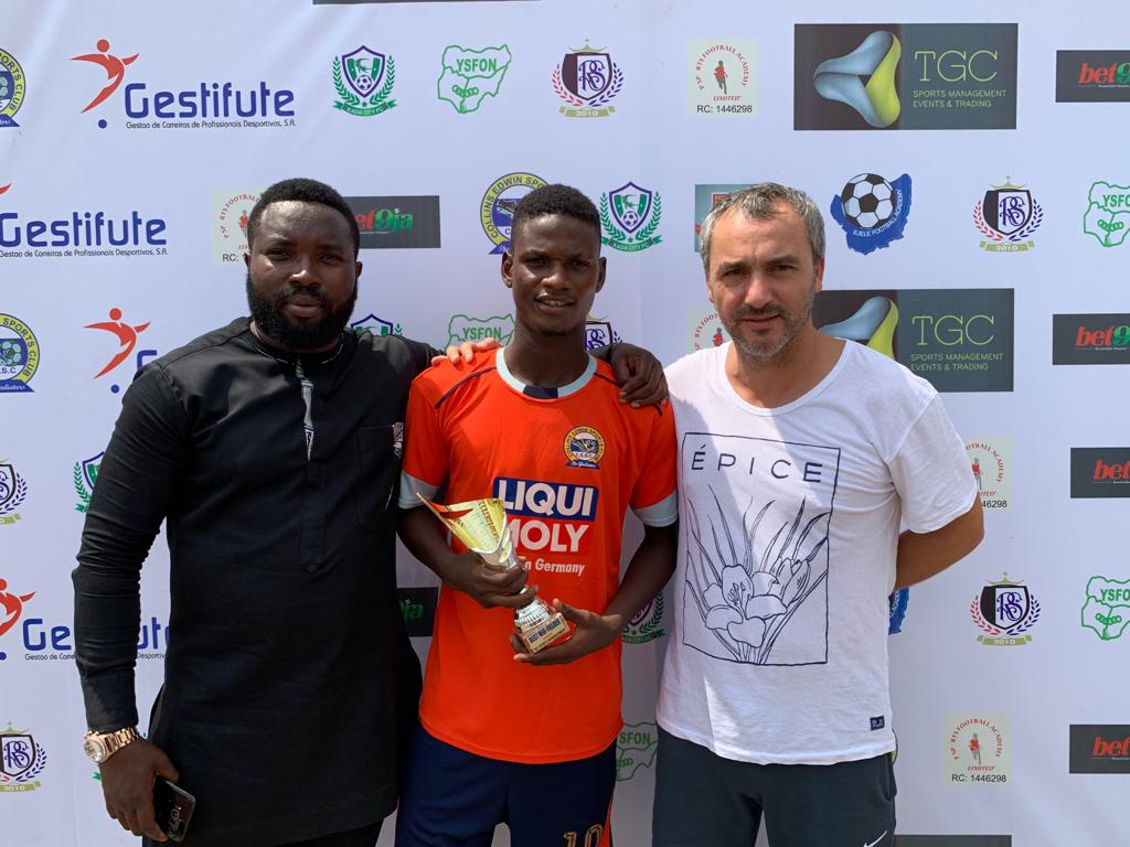 Golden Eaglets captain, Samson Wins Award At TGC Global Scouting Tourney