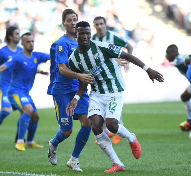 Shehu Resumes Training At Bursaspor After 4-Week Layoff Over Injury