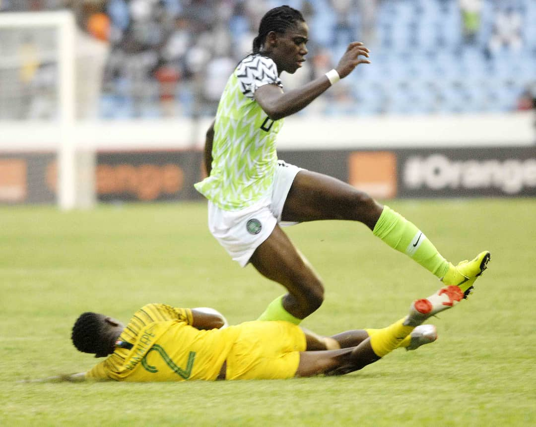 2018 Women's  AFCON: Oshoala, Ebi, Oluehi Named In CAF Group Stage Best 11