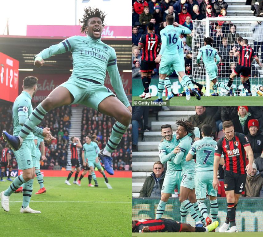 Iwobi Shines In 10th EPL Start As Arsenal Win At Bournemouth, Inch Closer Top-4 Spot