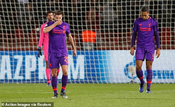 UCL: Liverpool Crash In Belgrade As Monaco Suffer 4-0 Home Loss To Club Brugge