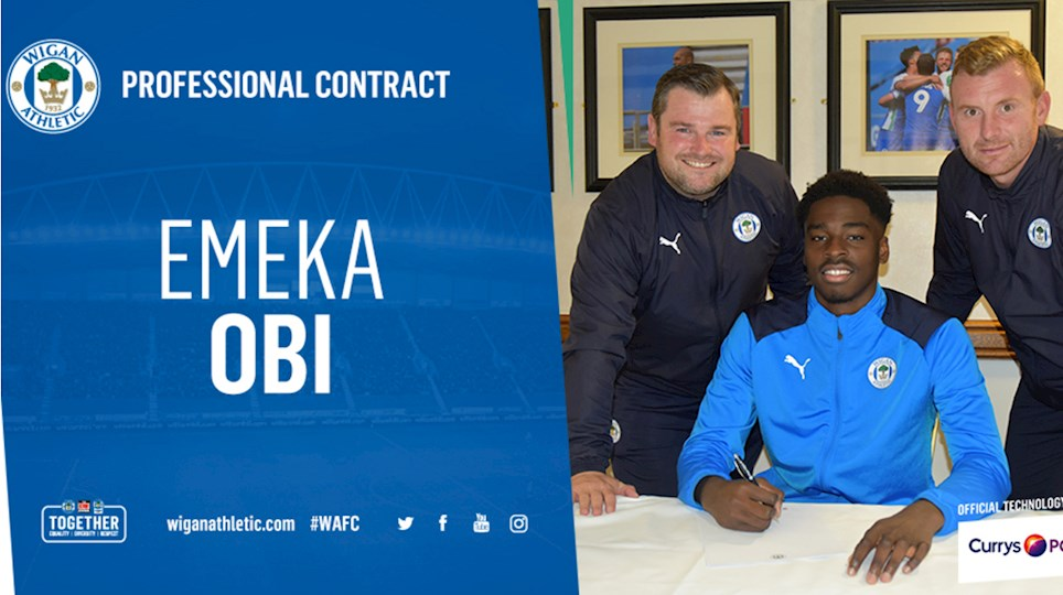 Nigerian Defender Emeka Obi Signs First Pro Contract With Wigan