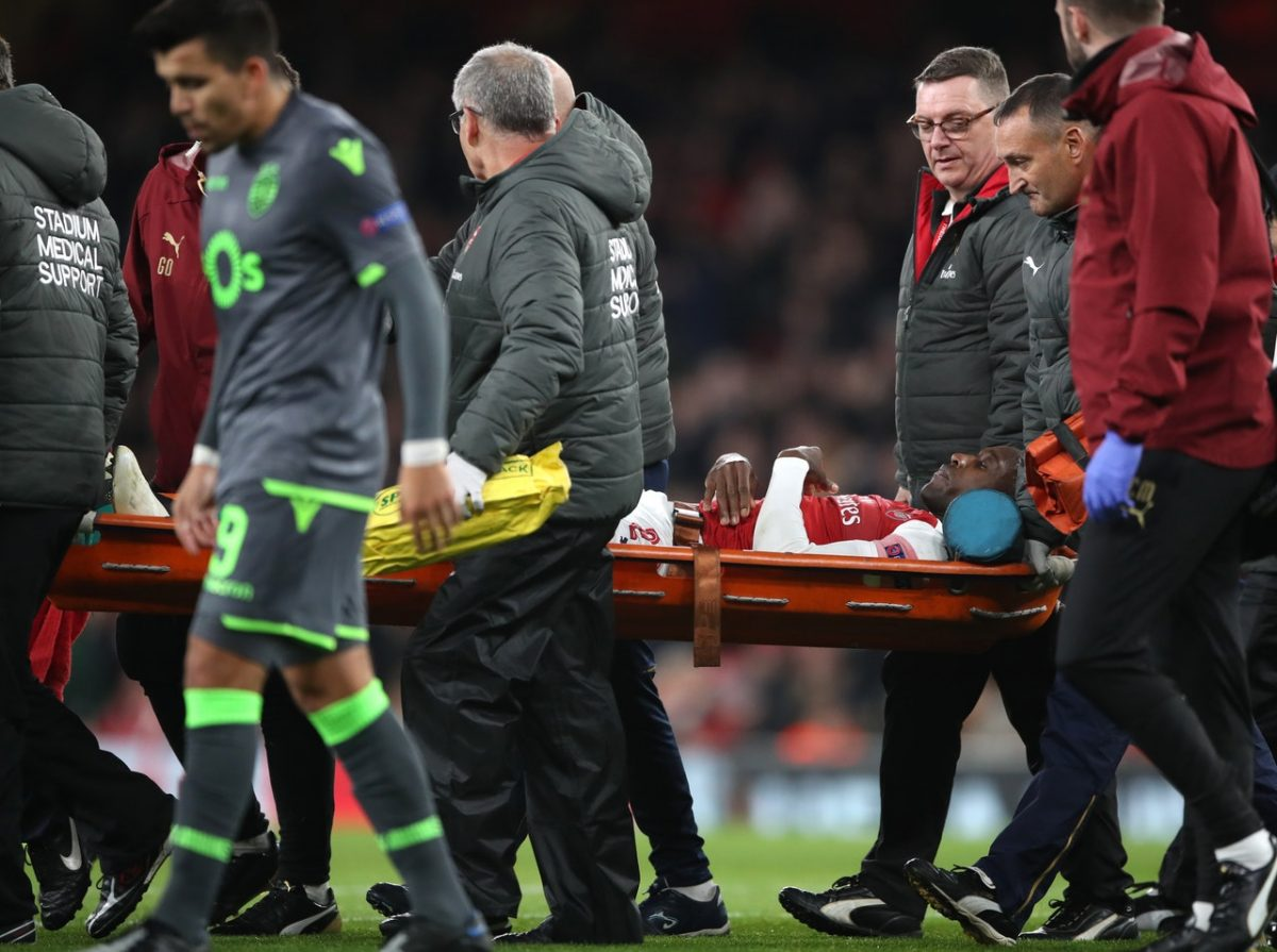 Arsenal striker remains in hospital