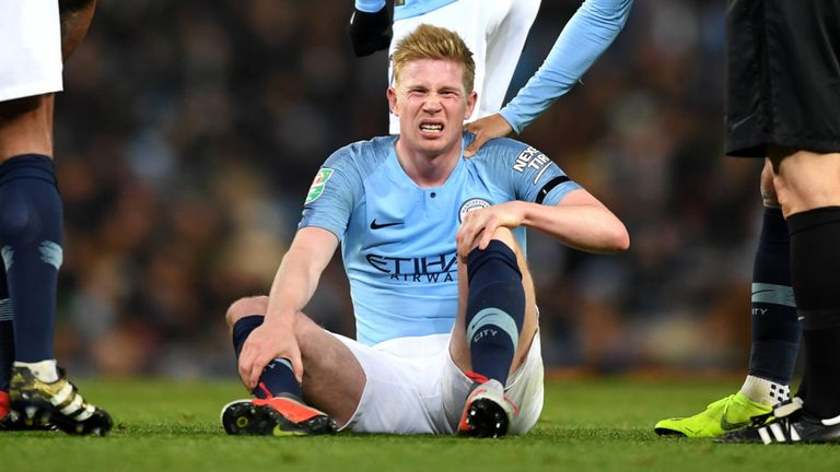 De Bruyne Ruled Out For 6 Weeks