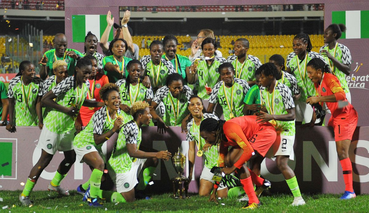 Brilliant Super Falcons Edge Banyana  On Penalties To Clinch 9th AWCON Title