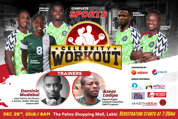 Complete Sports Celebrity Workout/ Live Event Blogging