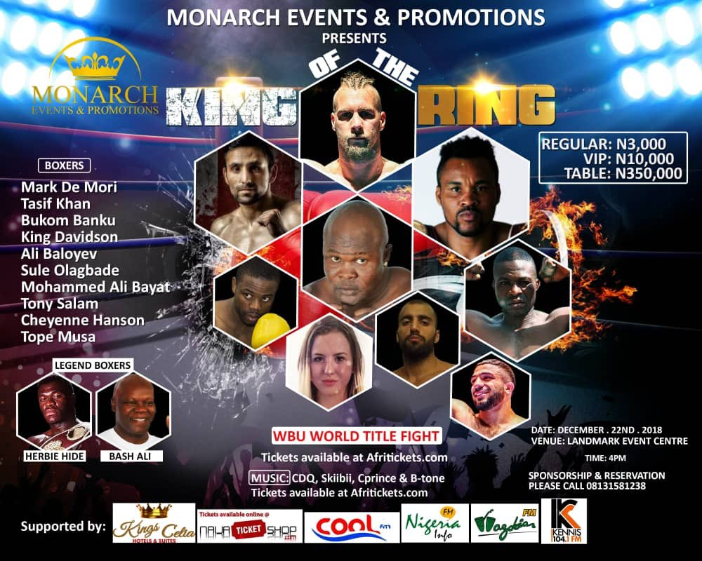 Boxers Storm Lagos For King Of The Ring Show