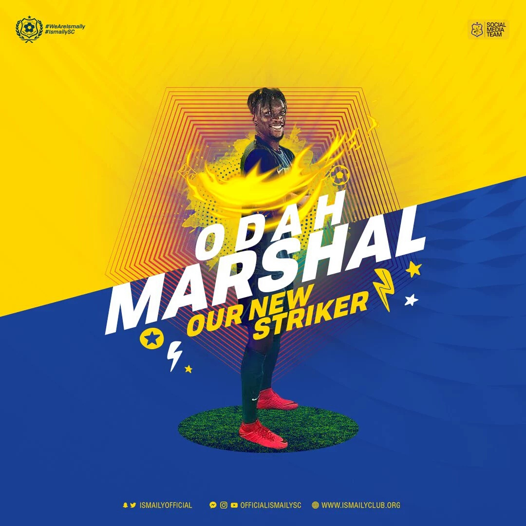 Nigerian  Forward Odah Marshal Joins Egyptian Club Ismaily