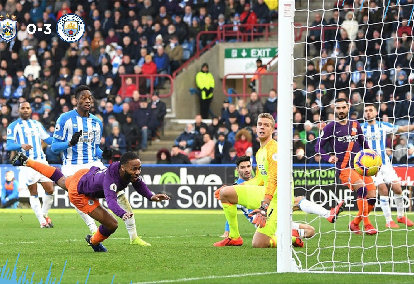 EPL: Man City Thump Huddersfield 3-0 At John Smith's To Inch Closer Liverpool