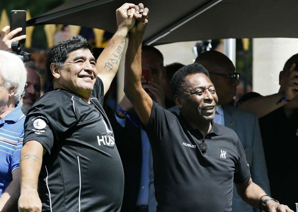 Pele Wishes 'Fellow No.10' Maradona Full Recovery After Surgery