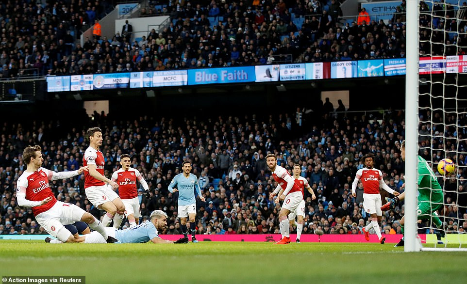 Iwobi Struggles, Subbed Off As Aguero's Hat-Trick Fire Man City Past Arsenal