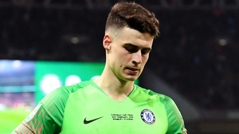 Kepa Apologises, Fined For Wembley Incident