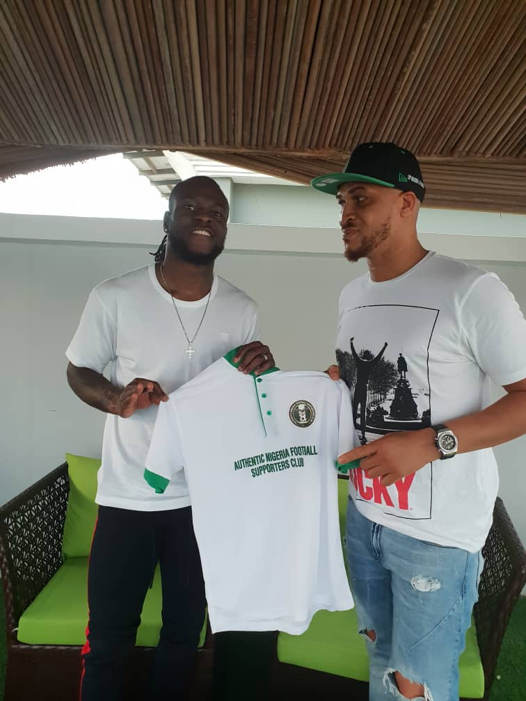 Authentic Nigeria Football Supporters Club Gets Moses' Backing, Storms Asaba For Eagles' Games