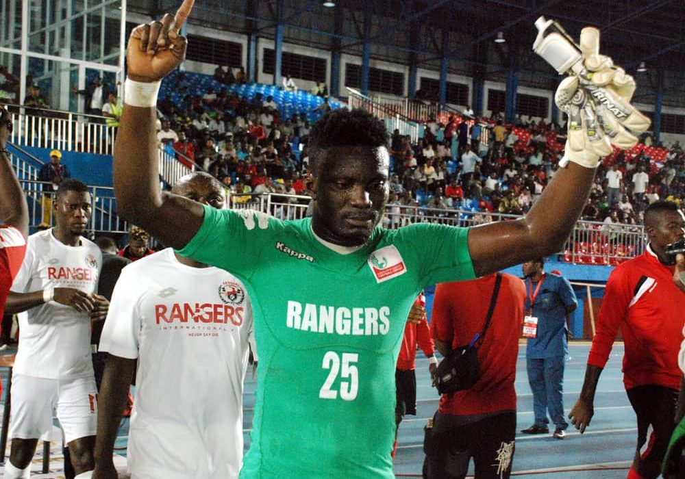 Rangers Goalie Bonsu Makes CAFCC Group Stage Best Eleven