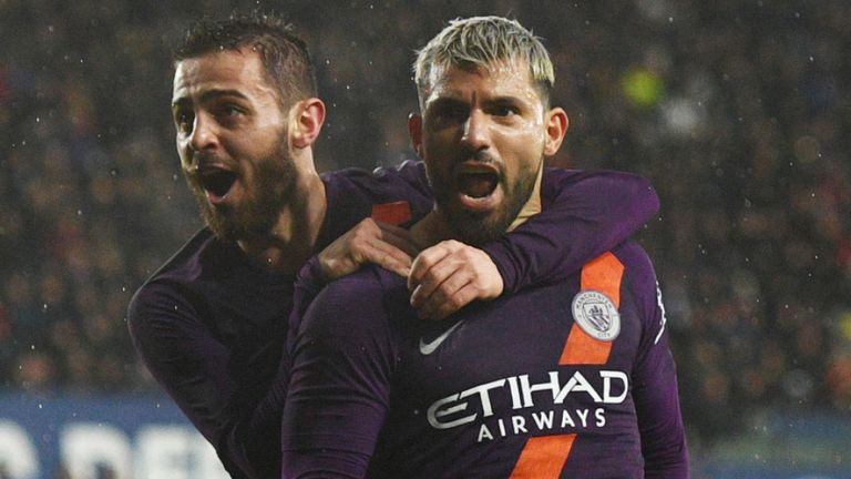 Manchester City Pip Swansea 3 2 To Keep Quadruple Chase Alive