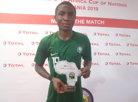 Jabaar Named Man Of The Match In Golden   Eaglets Draw Vs Uganda