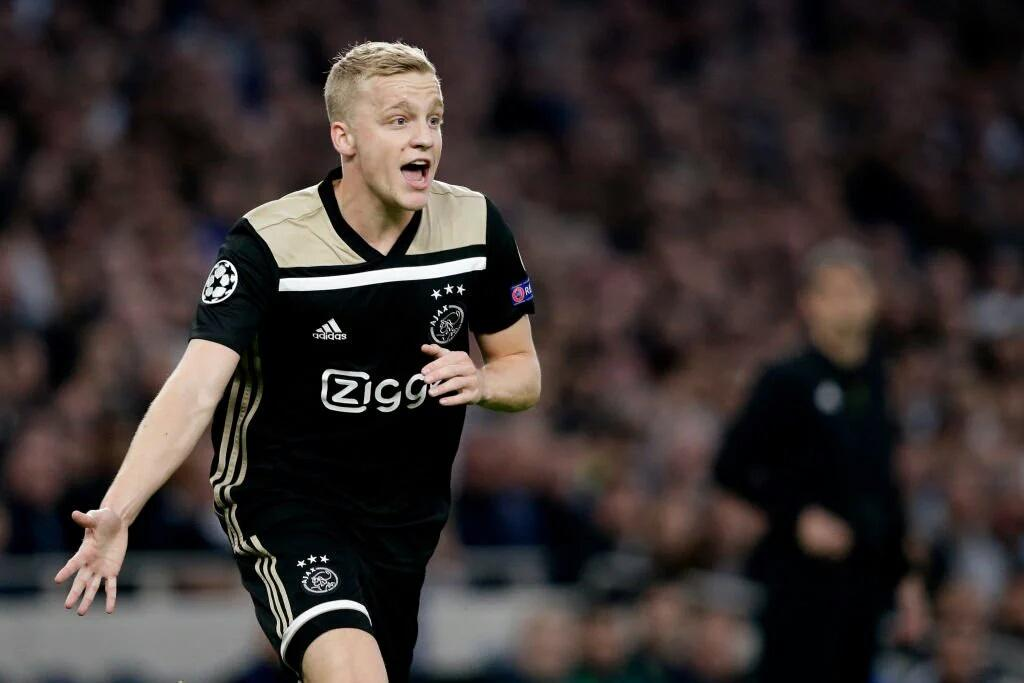 Champions League: Van de Beek Gives  Ajax Big Advantage As Tottenham Lose Home Leg