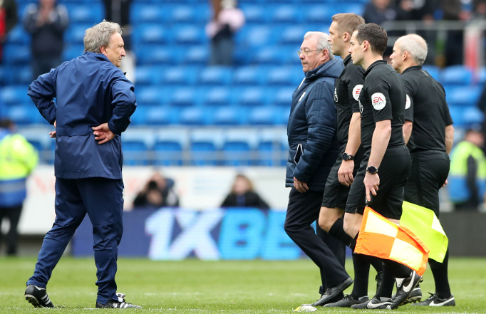 Warnock Faces English FA Charges Over Referees Rant After Cardiff Defeat To Chelsea