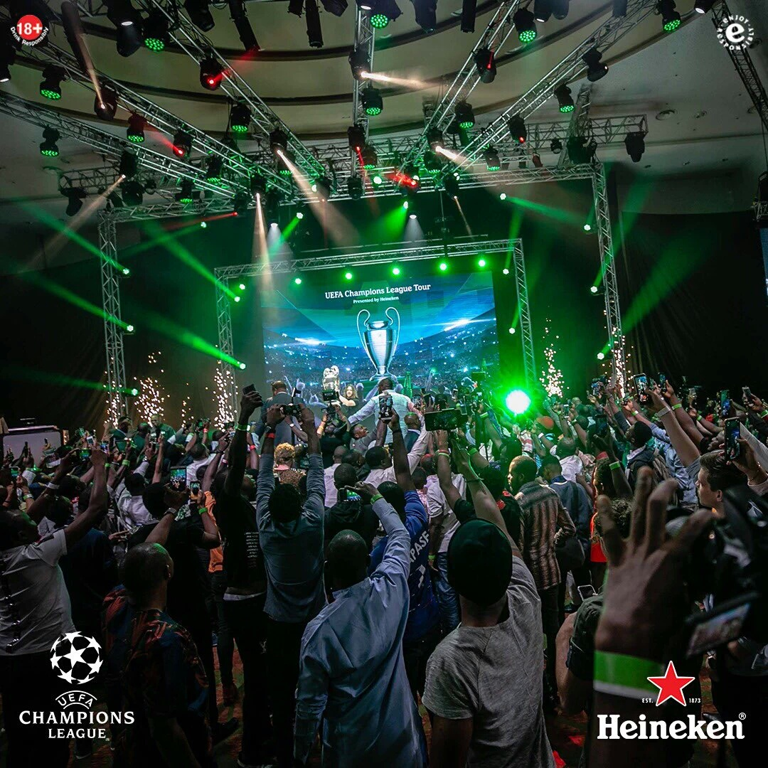 Fans Relive Excitement As Heineken #Unmissable UEFA Champions League Trophy Tour Ends In Style In Lagos