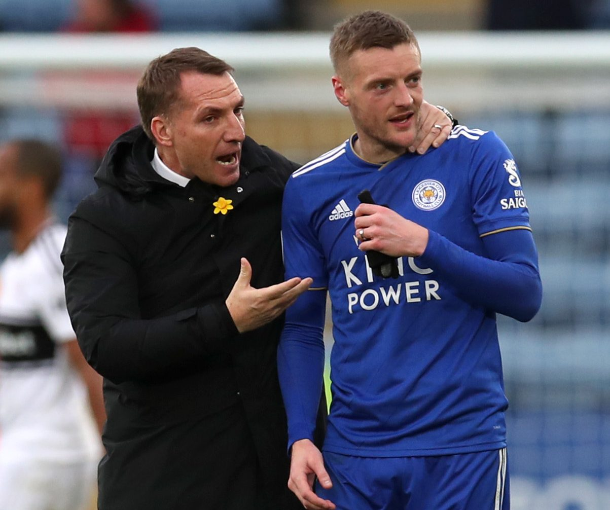 Rodgers Salutes Vardy After Win