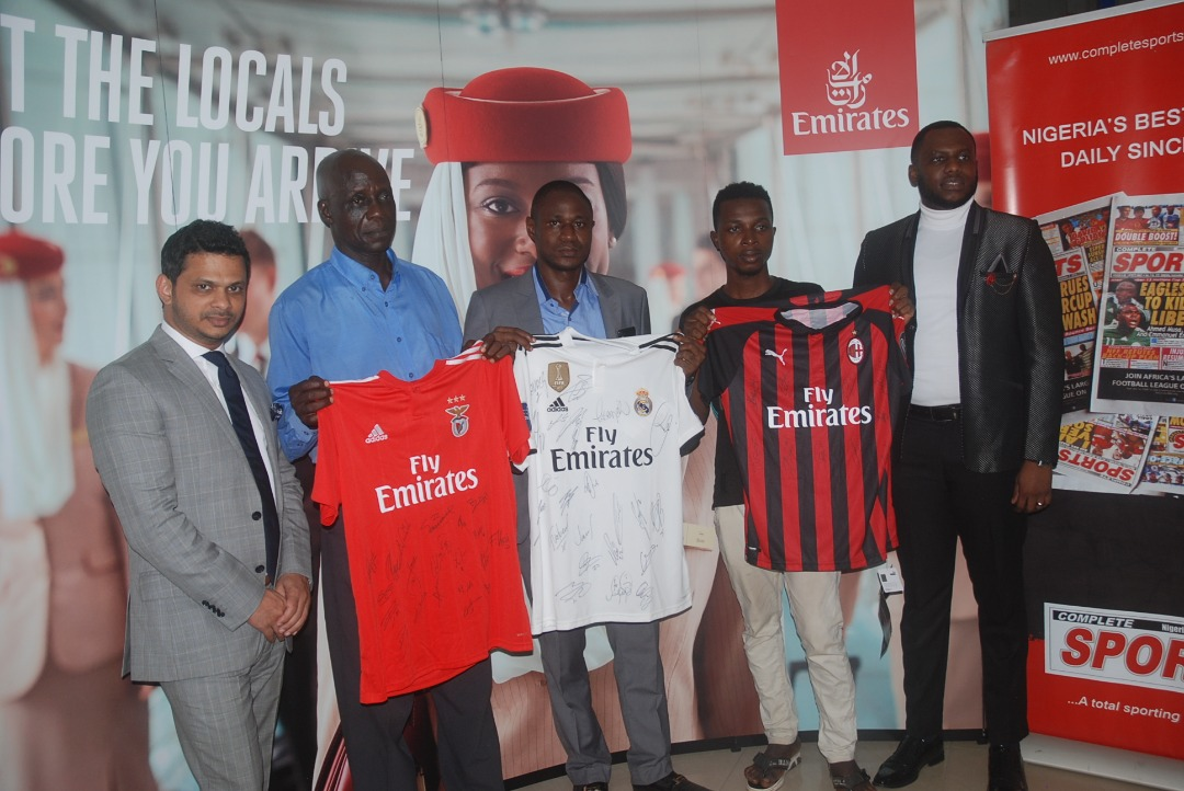 Emirates Airline/Completesports.com Football Challenge: Winners Smile Home With Prizes