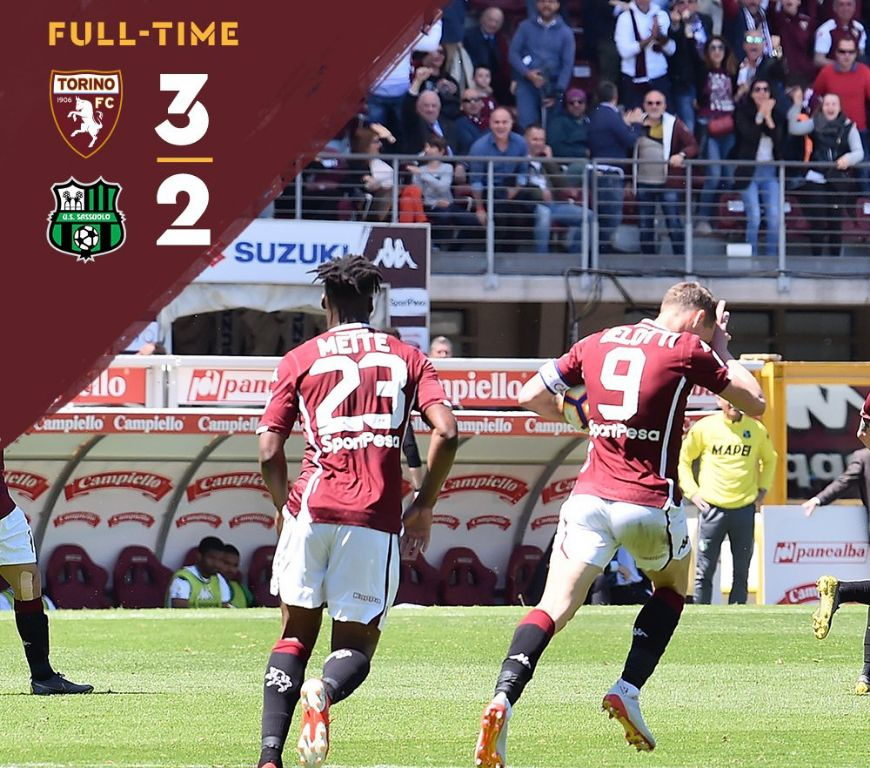 Aina Indisposed As Torino Win 3-2 At Home Vs Sassuolo