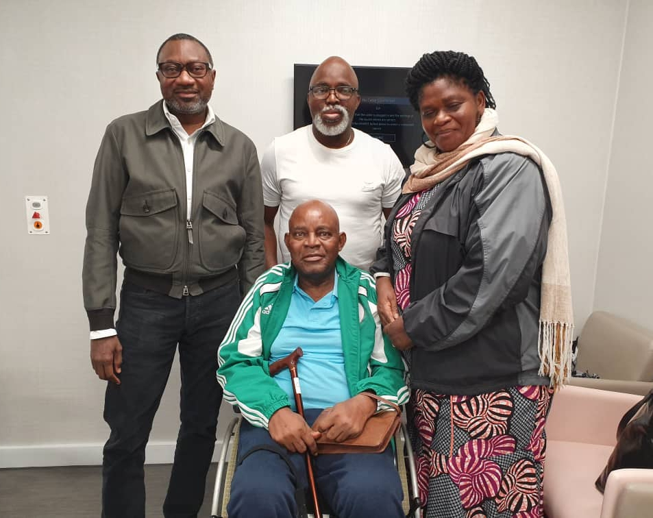 Otedola Pays Chukwu Visit At London Hospital
