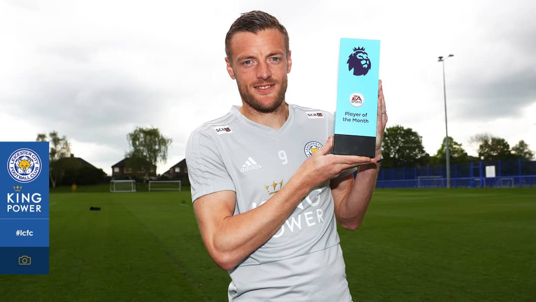 Vardy Wins EA Sports POTM Award For April