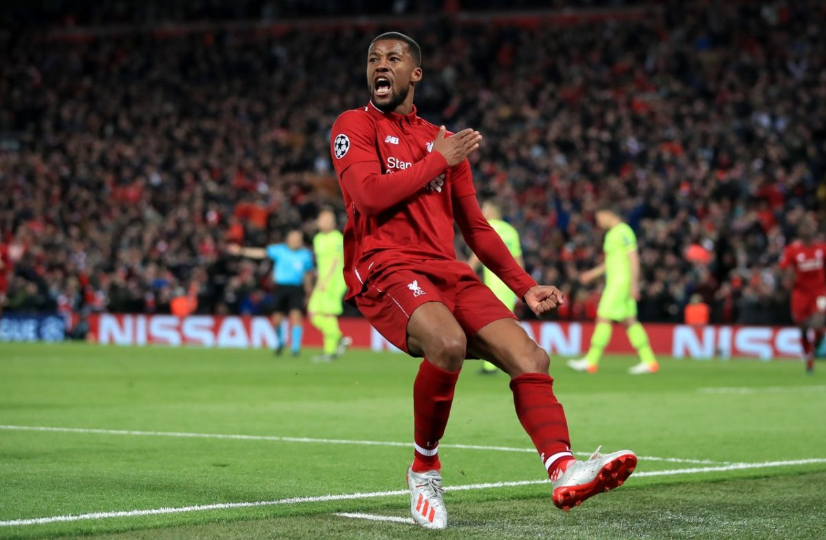 Wijnaldum Reveals CL Final Hopes