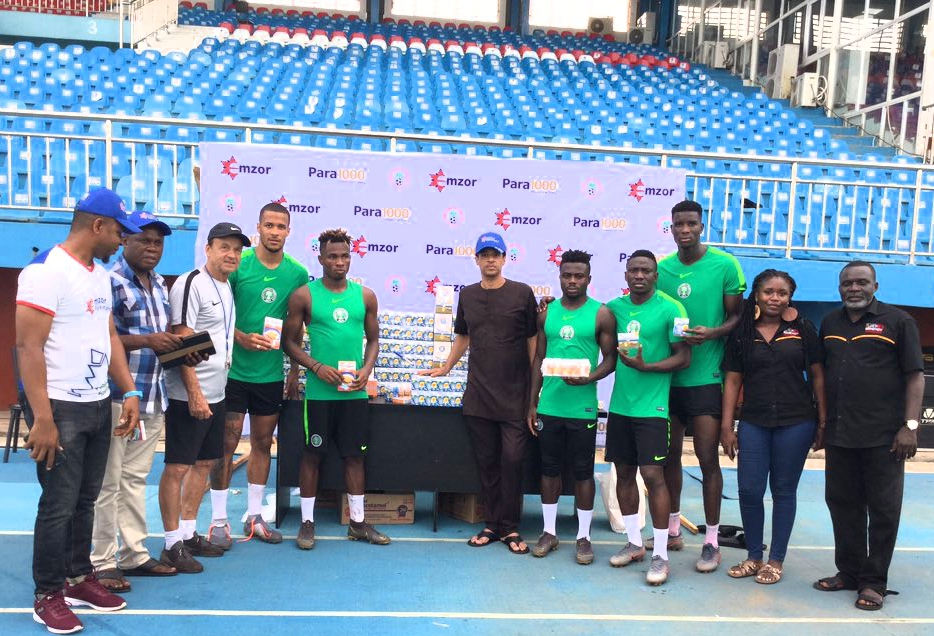 EMZOR Presents Medical Products To AFCON 2019-Bound Eagles As Co-Sponsors