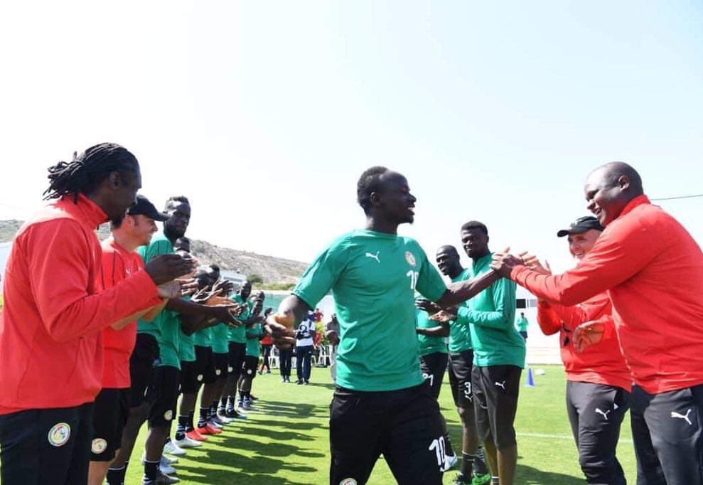 Mane Arrives Senegal Pre-AFCON Camp To Heroic Welcome From Teammates, Officials