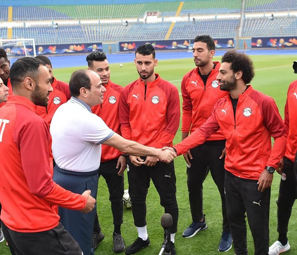 Egypt President Al-Sisi Visits Pharaohs At Training Camp; Eager To Host Historic AFCON 2019 Successfully
