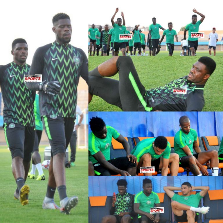 PHOTOS: Super Eagles Complete, Sharp In Last Training Session Ahead Bafana Clash