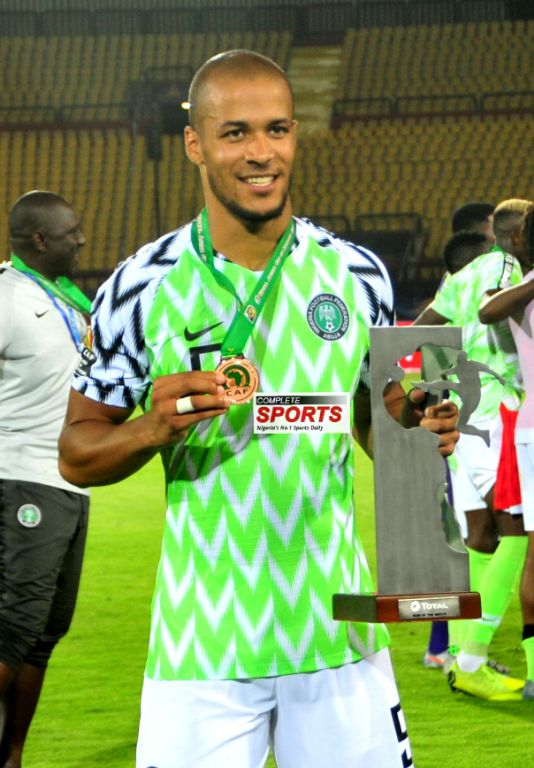 Troost-Ekong Bags Man Of The Match Award In Nigeria's Win Vs Tunisia