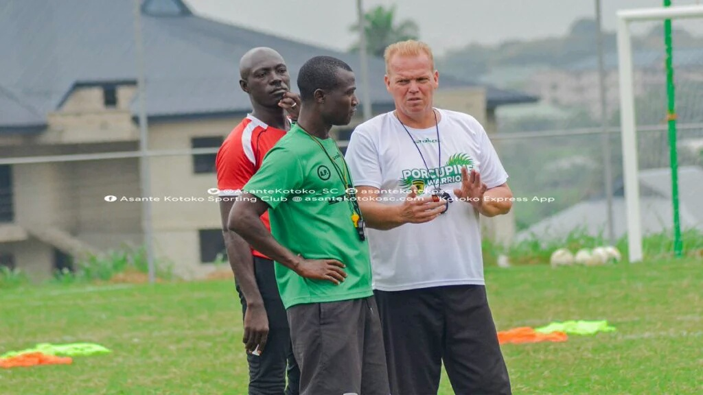 CAFCL: Kotoko Coach Zachariassen Worried Over Sani Abacha Stadium's Astro-turf