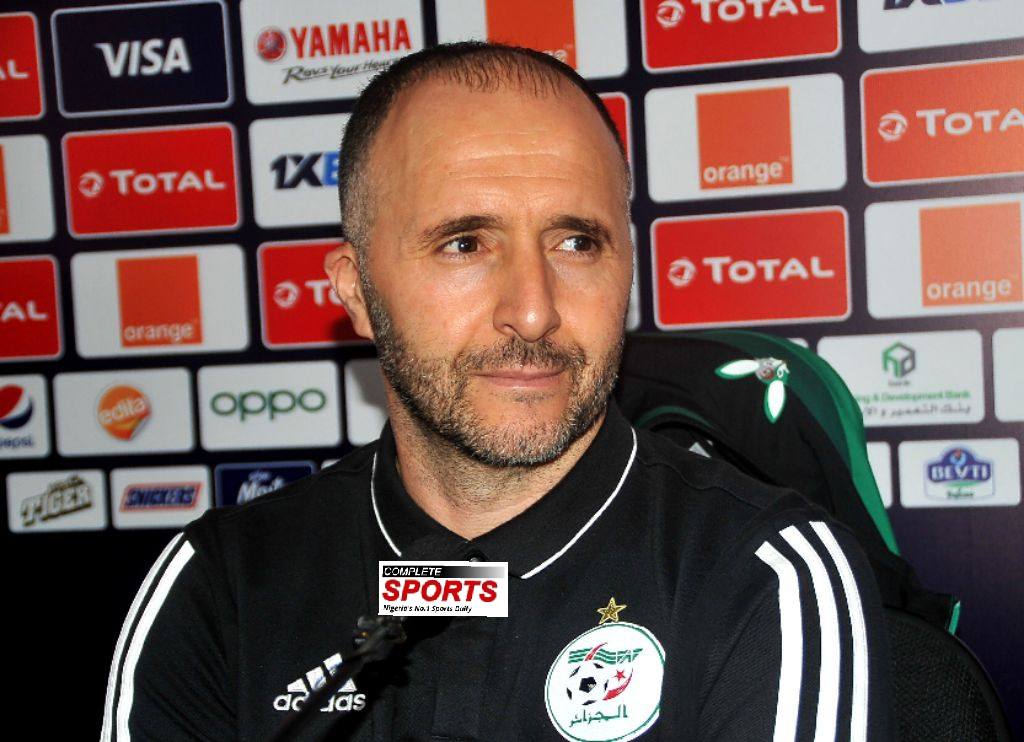 Algeria Coach, Belmadi: We Must Be At Our Best To Defeat Nigeria