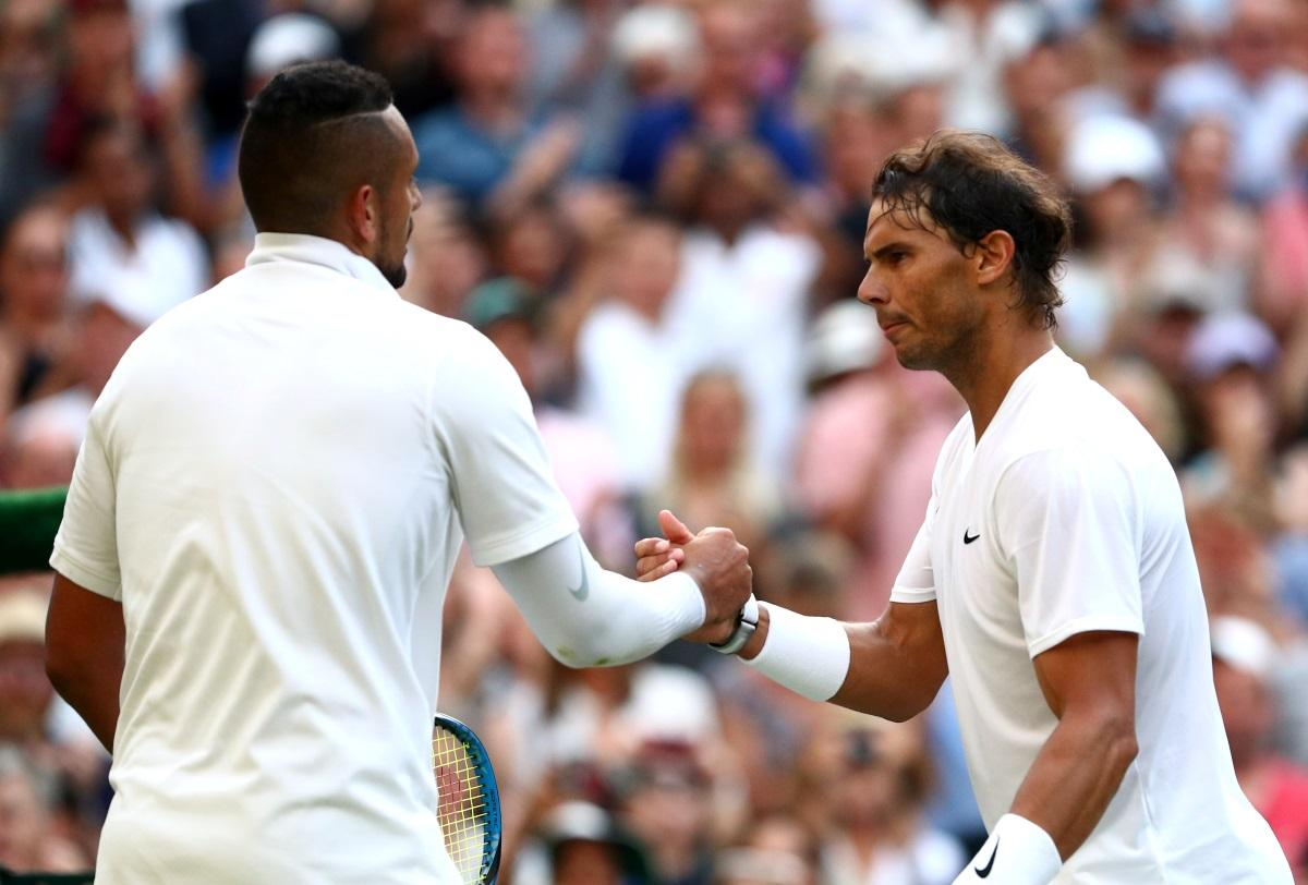 Nadal Edges Kyrgios In Stormy Clash