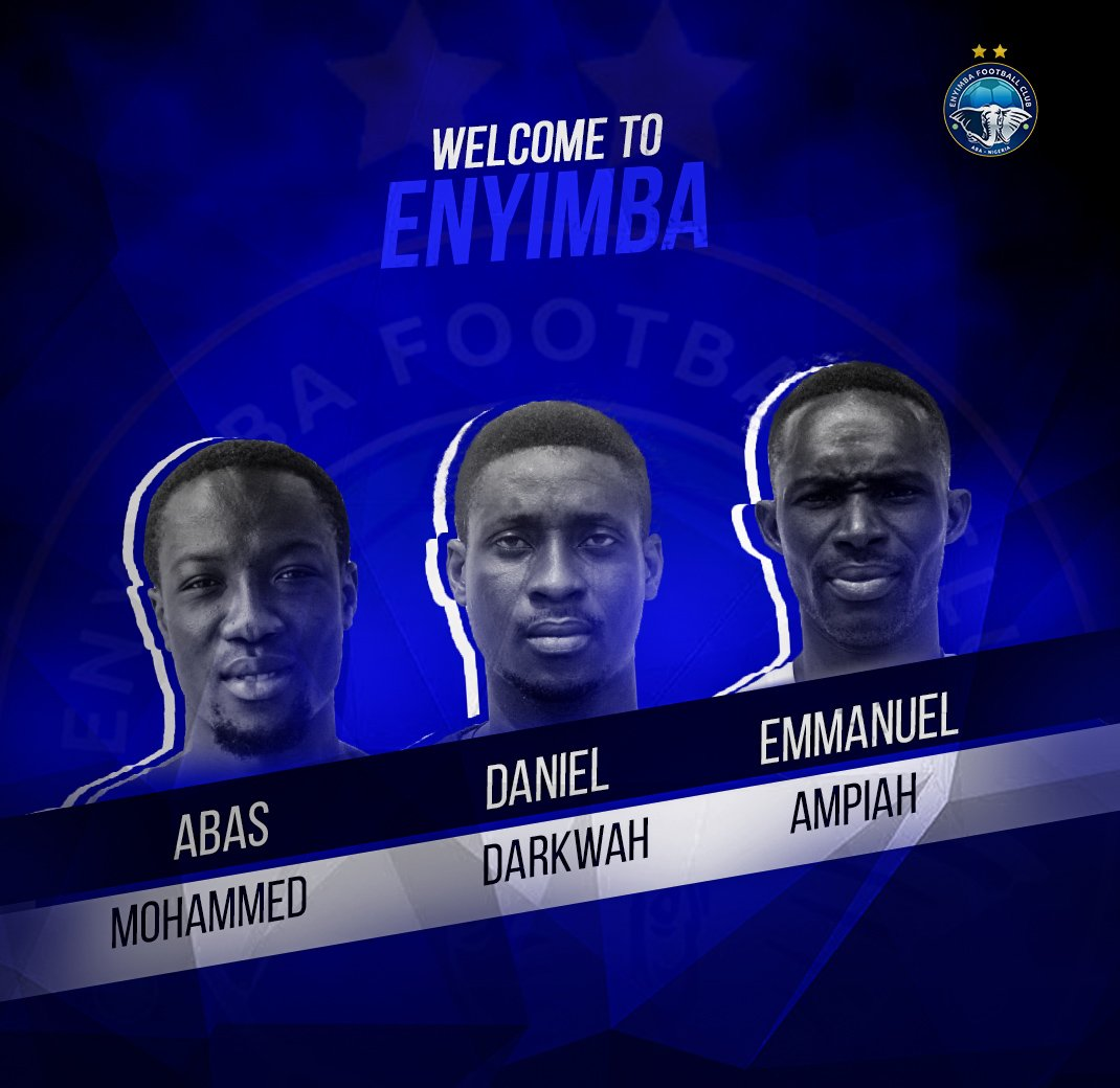 Enyimba Bolster Squad For New Season With Three Ghanaian Players