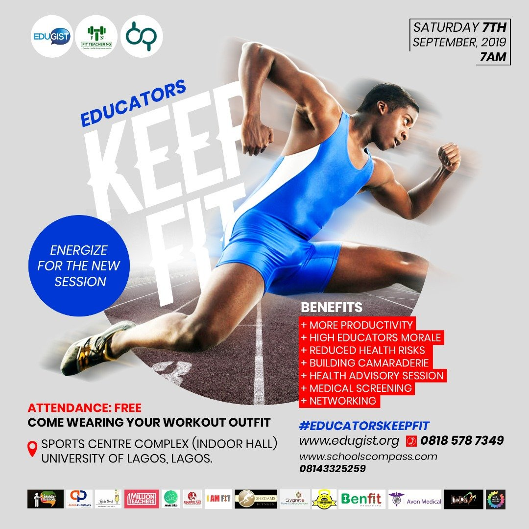 EduGIST Holds Keep-Fit Session For Teachers, Others In Lagos