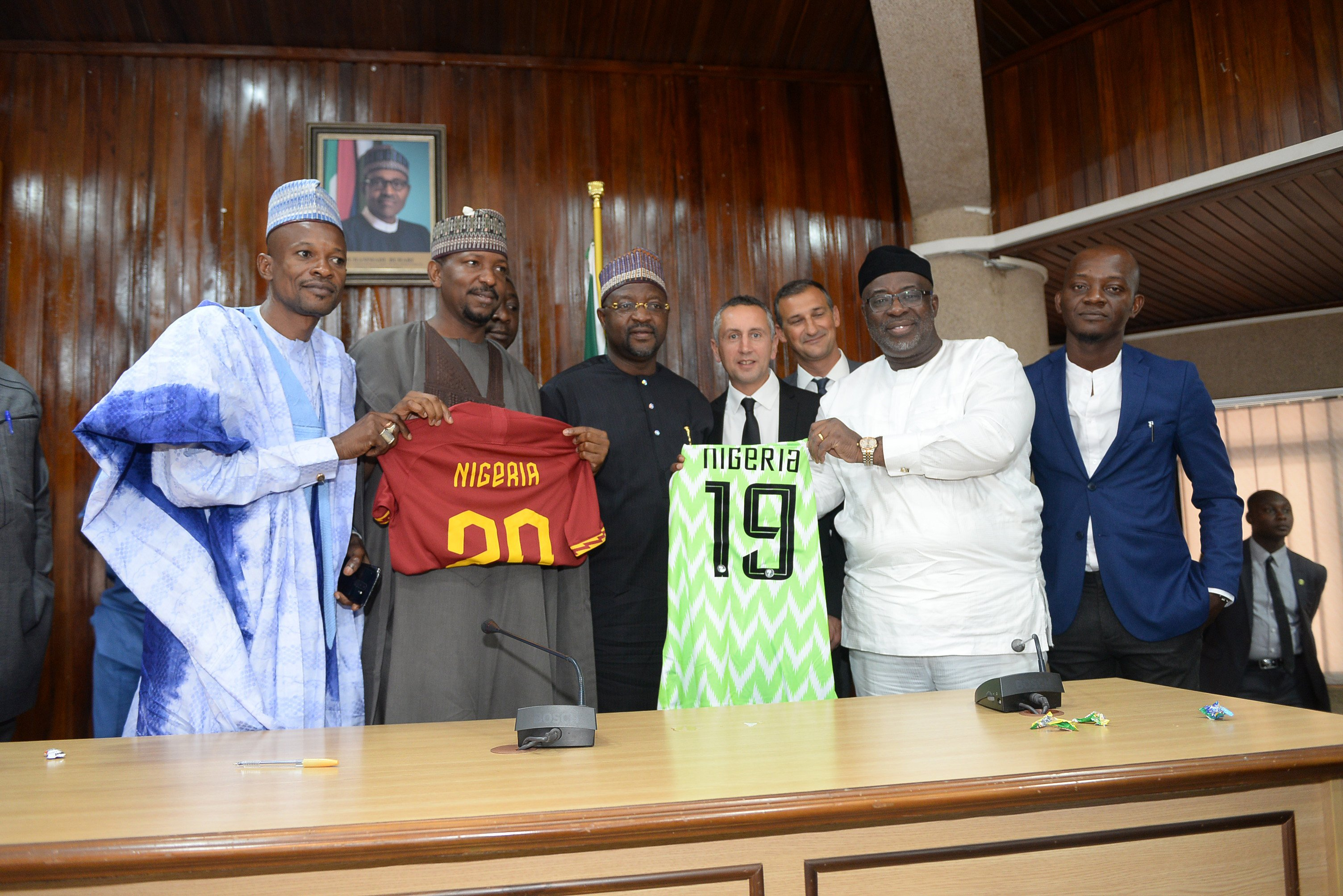 NFF,  AS Roma Sign Partnership Agreement For Football Development