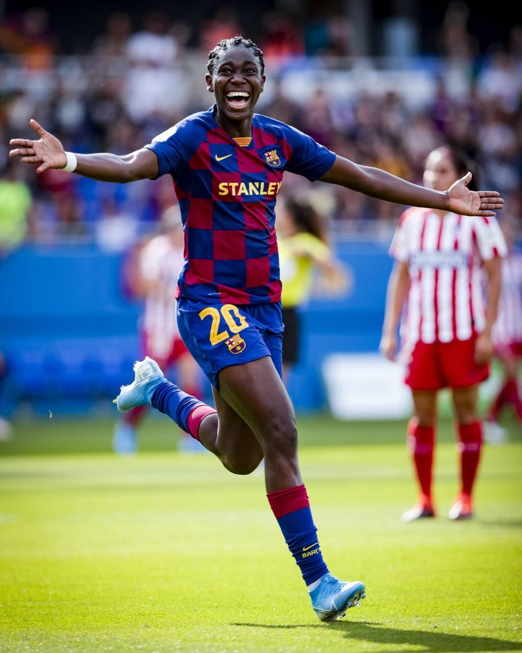 Liga Iberdrola:  Oshoala Scores Brace In Barcelona 6-1 Win Against Atletico Madrid