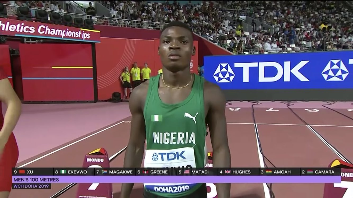 2019 IAAF Worlds: Ekevwo Flies Into 100m Semis, Okagbare Pulls Out  Of Saturday's100m