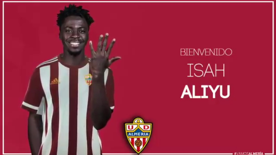 Aliyu Signs Five-Yeal Deal With UD Almeria, Ends Stint At Armenian Club Vanasdzor
