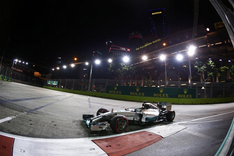 Hamilton Leads Way In Singapore Second Practice